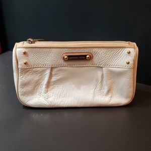 Michael Kors white patent leather clutch